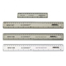 Q-Connect Ruler 15cm Clear