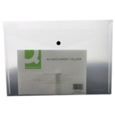Q-Connect Doc Folder Plastic A4 Clr