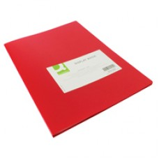 Q-Connect Display Book 20Pocket Red