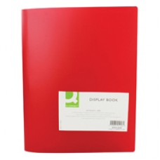 Q-Connect Display Book 40Pocket Red