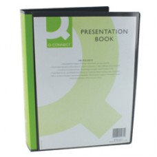 Q-Connect Display Book A4 100 Pck Blk