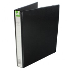 Q-Connect Pres Binder 4 DRing 25mm Blk