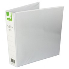 Q-Connect Pres Binder 4 DRing 40mm Wht