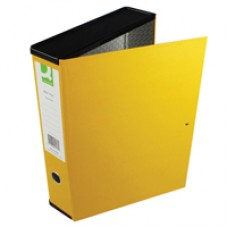 Q-Connect Rigid Box File Yellow Foolscap