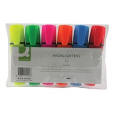 QConnect Highlighters Assorted Pk6