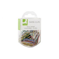 Q-Connect Paperclips 32mm Coloured