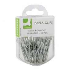 Q-Connect Paperclips 50mm Serrated