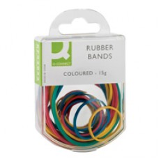 Q-Connect Rubber Bands Coloured 15g