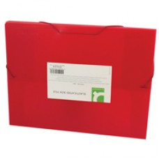 Q-Connect Elasticated BoxFile Red