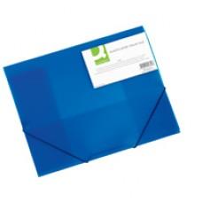 Q-Connect Elasticated Folio Blue