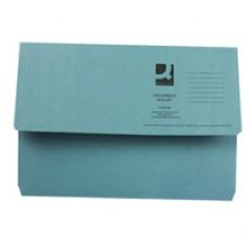 Q-Connect Document Wallet FC Blue