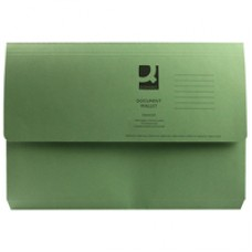 Q-Connect Document Wallet FC Green