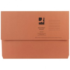 Q-Connect Document Wallet FC Orange