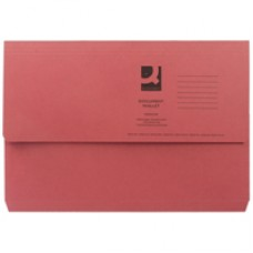 Q-Connect Document Wallet FC Red