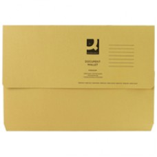 Q-Connect Document Wallet FC Yellow